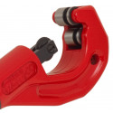 Telescopic pipe cutter with deburring and spare part