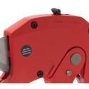 Shear cutter for plastic and multilayer pipes and wires up to 42 mm