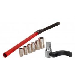 Set chiave sottolavelli rubinetti con inserti e ganascino accessorio