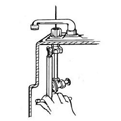 Set clé écrou robinet avec embouts et mâchoire