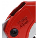 Pipe cutter for plastic pipes, shear and ratchet system - 42mm