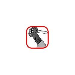 Huile minérale pour filetage, avec fileteuse à cliquet manuel ou électrique
