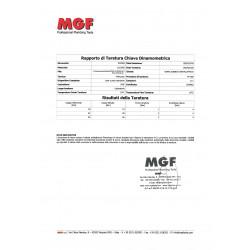 Certificado de Calibración Llave Dinamométrica