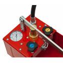 Pompa prova impianti con valvola di collaudo e scarico 60 bar