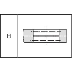 Mâchoire de sertissage type H
