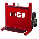 Carrello per radiatori dotato di ruote montascale