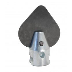 Barrena en forma de hoja Ø 22mm para Maquina para desatascar
