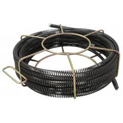 Rohrreinigungsspirale Ø22mm im Spiralenkorb für Rohrreinigungsmaschine