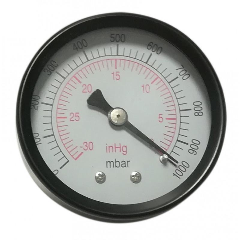 Vakuummessgerät axiale Edelstahl-Rückseite 50mm