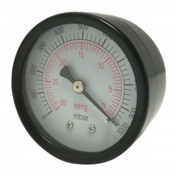 Vacuometro assiale Posteriore Inox 50mm