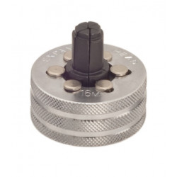 Head for single stage tube expander and calibration tool