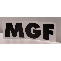 Spare part sticker for MGF Drain cleaning pump Unclogging