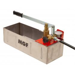 Pompe d'épreuve inox manuelle 60 bar ou 120 bar, fabriquée en Italie