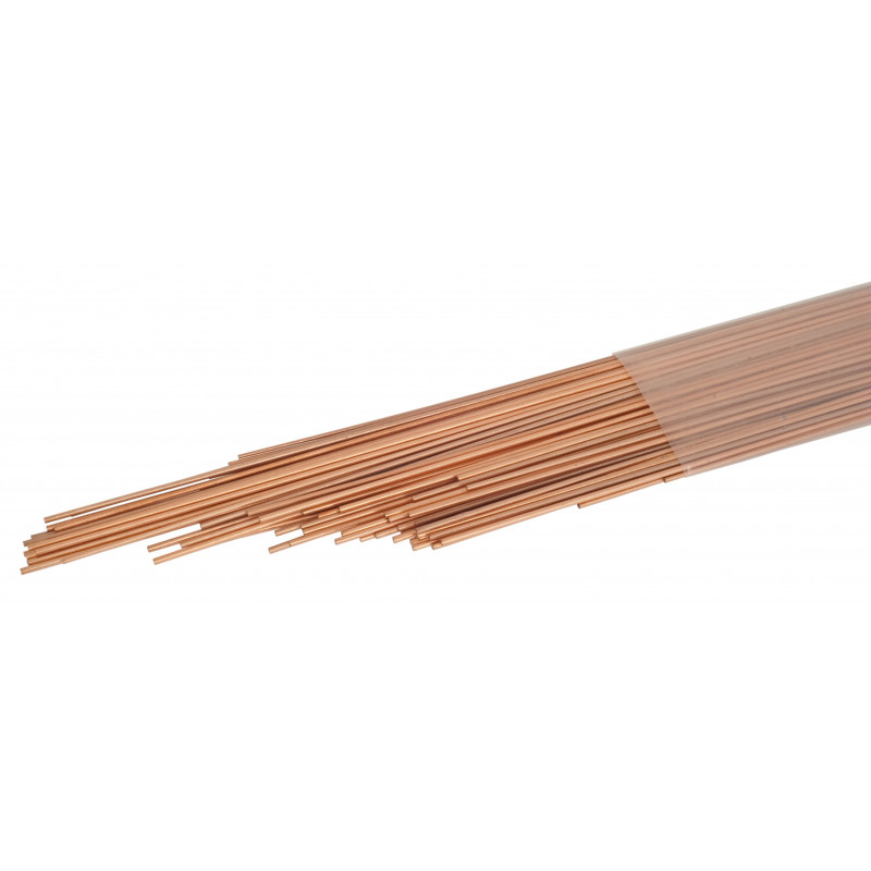 Brazing Rod Copper 93,6% / Phospohrus 6% / Silver 0,4% - 1Kg