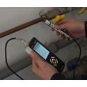 Strumento di collaudo per idraulici in valigetta con tuti i sensori disponibili
