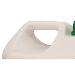 Practical handle for safe transport of the professional chemical to dissolve sludge, mud, oxides