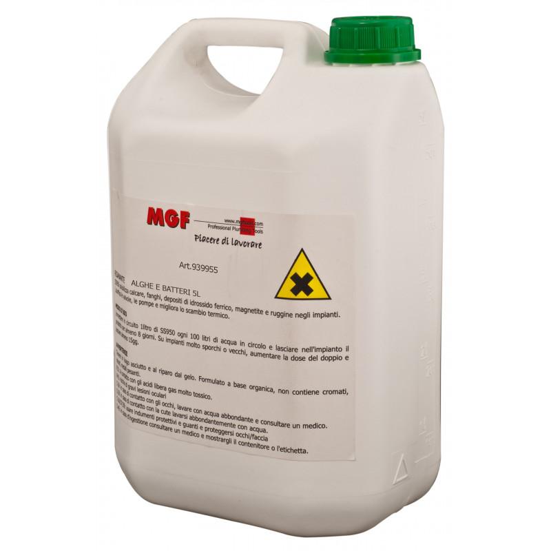 Liquid washing ALGAE, BACTERIA, VIRUS for closed circuits