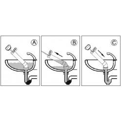 Disostruisci il lavandino utilizzando l'adattatore a ventosa e la pompa disostruente con sistema push-pull