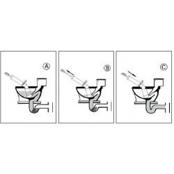 Pompa disostruente ideale per disotturare lavandini, docce, bidet, scarichi in genere - Utensile per idraulici