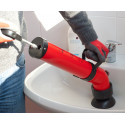 Unclogging pump for drains cheap and effective with the push-pull system