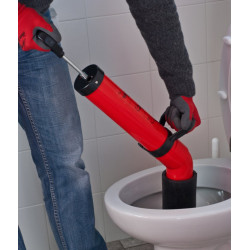 Unclogging drains along with adapter, cheap, simple and environmentally friendly