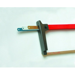 Hand saw with compartment replacement blades
