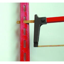 Hacksaw for cutting, blade adjustable in 4 positions