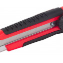 Cutter a lama con impugnatura bicomponente, corpo in ABS e impugnatura in gomma. Taglierino Instality