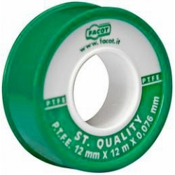 Nichtgesintertes Teflonband (PTFE-Band) 0,076 mm Stärke, Rollenlänge 12 m