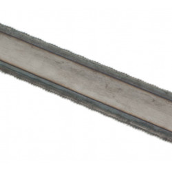 Blade with double cutting edge for hacksaw