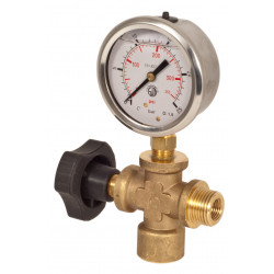 HELP Testing Valve with Gauge 580 PSI Glycerine 40 bar