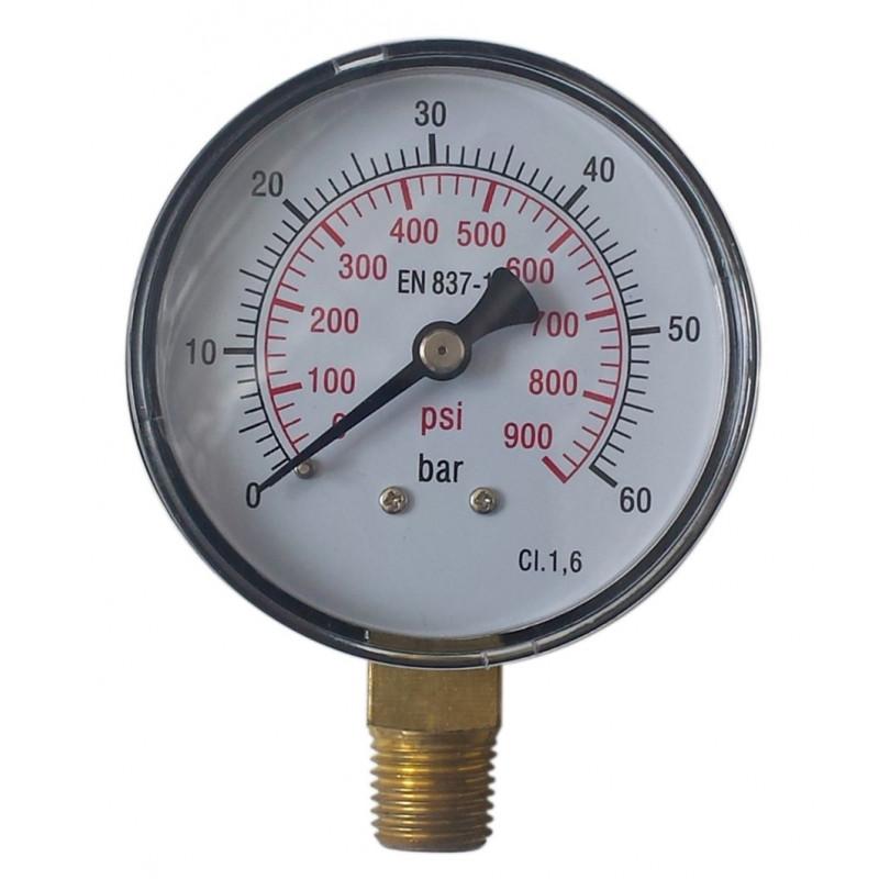 Manómetro en seco radial forma cónica 60 bares