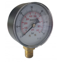 Manomètre sec radial conique 60 bar