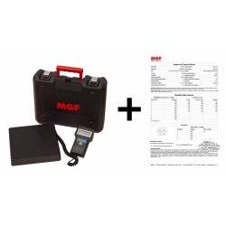 Refrigerants Scale MAXI 220 lbs. (100kg) with Calibration Certificate