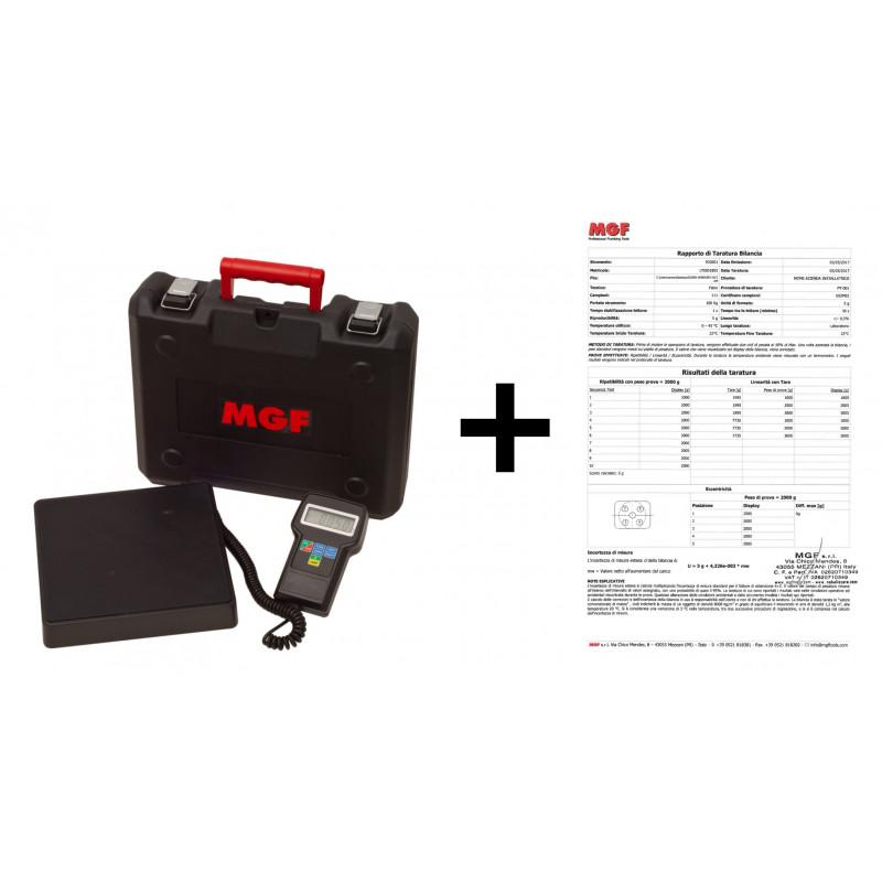 Bilancia elettronica MAXI 100Kg con Rapporto di Taratura