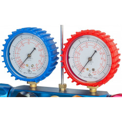 Conjunto Manómetros R410a 4 vías R32