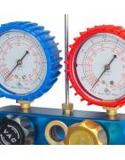 conjunto de manómetros de aire acondicionado